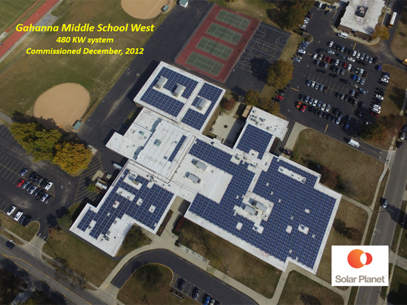 Gahanna Middle School West - 480 KW system Commissioned December, 2012