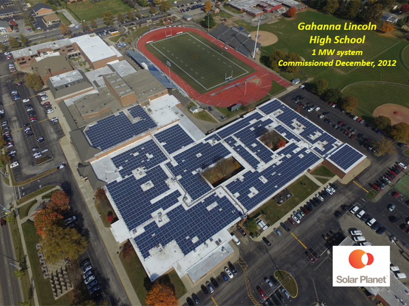 Gahanna Lincoln High School - 1 MW system Commissioned December 2012