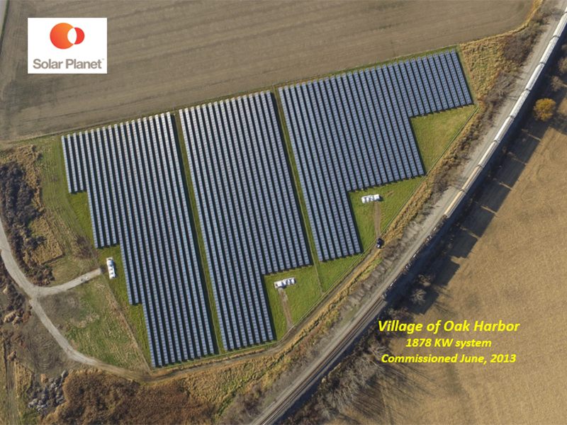 Village of Oak Harbor - 1878 KW system Commissioned June, 2013