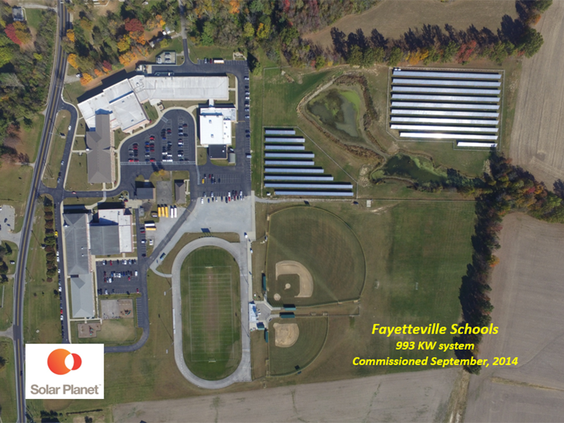 Fayetteville Schools - 993 KW system Commissioned September, 2014