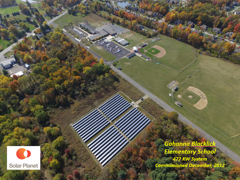 Gahanna Blacklick Elementary School - 477 KW system Commissioned December, 2012