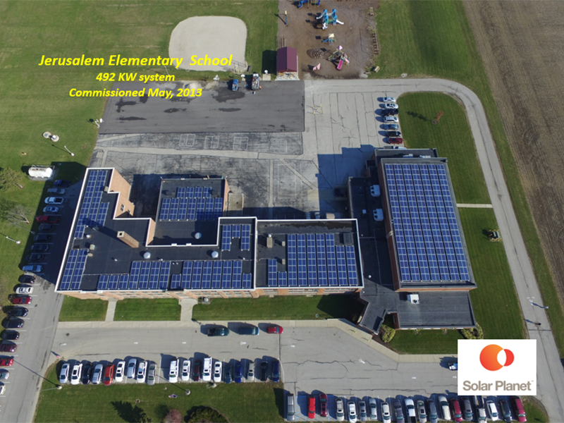Jerusalem Elementary School - 492 KW system Commissioned May, 2013