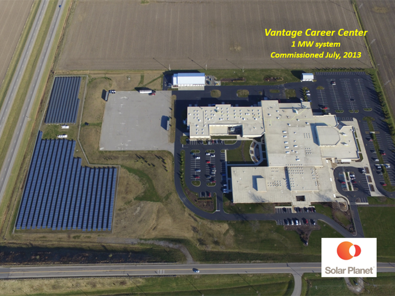 Vantage Career Center - 1 MW system Commissioned July, 2013